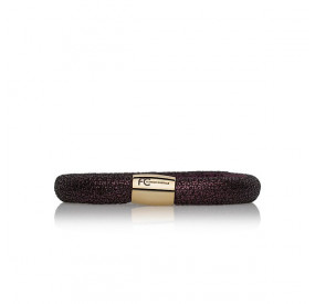 Bransoletka kolor fioletowy skóra 8 mm