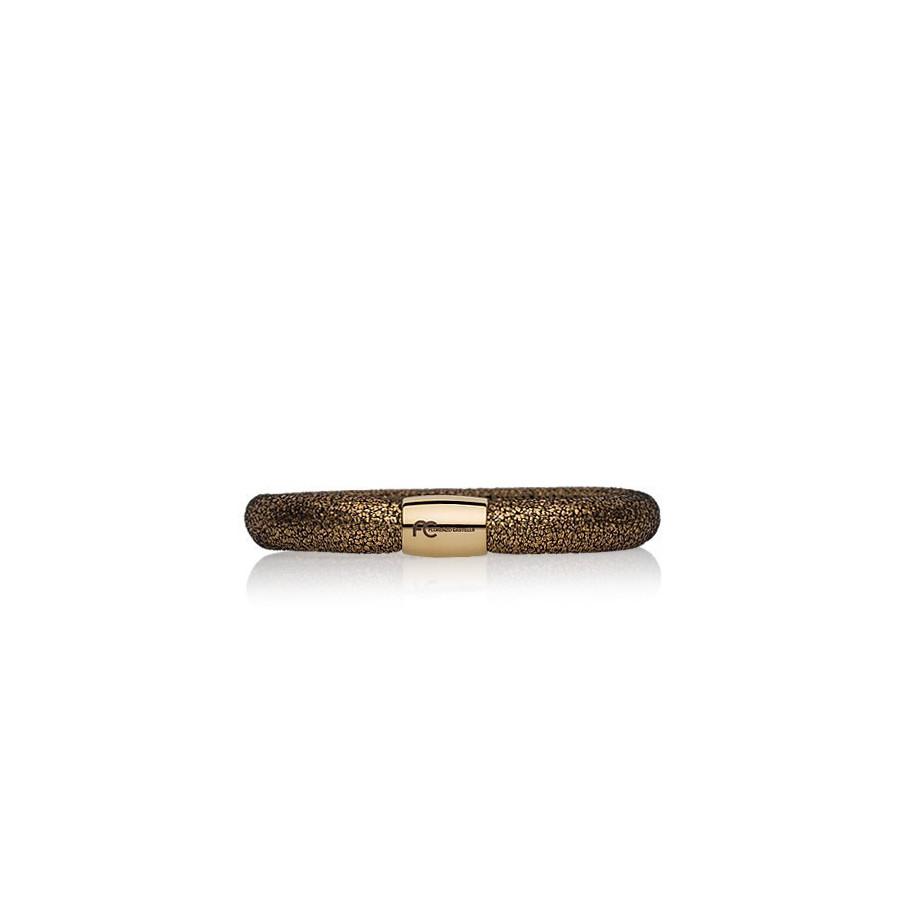 Bransoletka kolor złoty skóra 8 mm