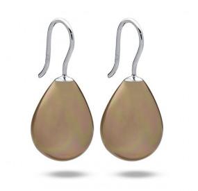 Kolczyki kolor złoty-antyczny perła 13 x 18 mm