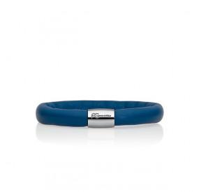 Bransoletka kolor niebieski skóra 8 mm