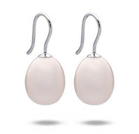 Kolczyki kolor różowy-jasny perła 12 x 15 mm