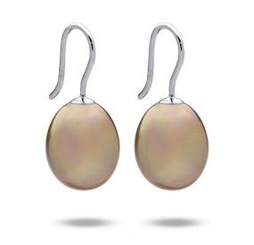 Kolczyki kolor złoty perła 12 x 15 mm