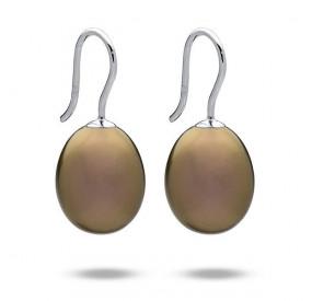 Kolczyki kolor złoty-antyczny perła 12 x 15 mm