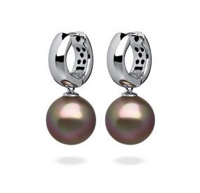 Kolczyki kolor złoty-antyczny perła 12 mm