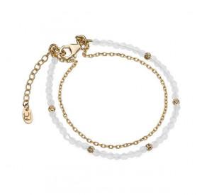 Bransoletka biały-opal kryształ Swarovski 3 mm