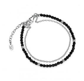 Bransoletka czarny kryształ Swarovski 3 mm