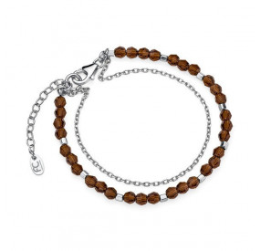 Bransoletka brązowy kryształ Swarovski 4 mm