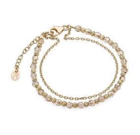 Bransoletka złoty kryształ Swarovski 4 mm