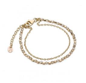 Bransoletka złoty kryształ Swarovski 3 mm
