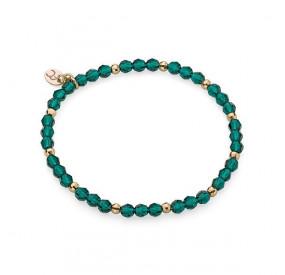 Bransoletka zielony kryształ Swarovski 4 mm