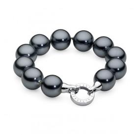 Bransoletka kolor grafitowy-ciemny perła 16 mm