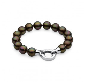 Bransoletka kolor brązowy-ciemny perła 10 mm
