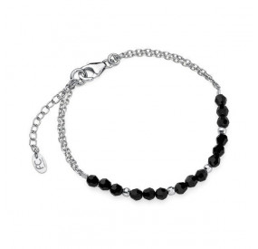 Bransoletka czarny kryształ Swarovski 4 mm