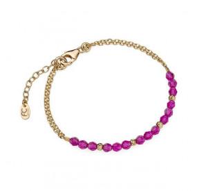 Bransoletka różowy-fuksja kryształ Swarovski 4 mm