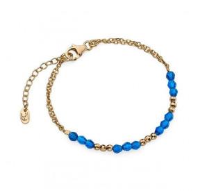 Bransoletka niebieski-morski kryształ Swarovski 4 mm