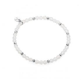 Bransoletka biały-opal kryształ Swarovski 4 mm