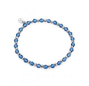 Bransoletka niebieski kryształ Swarovski 4 mm