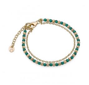 Bransoletka zielony kryształ Swarovski 3 mm