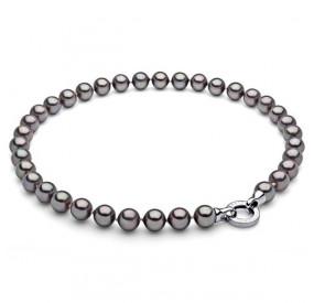 Naszyjnik fioletowy-wrzosowy perła 10 mm