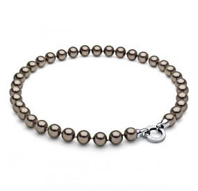 Naszyjnik złoty-antyczny perła 10 mm