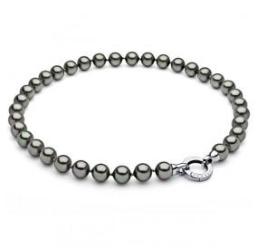 Naszyjnik beżowy-cappucino perła 10 mm