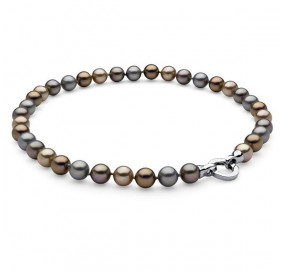 Naszyjnik srebrny złoty perła 10 mm