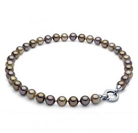 Naszyjnik złoty perła 10 mm