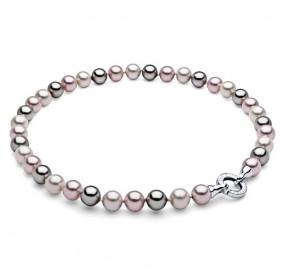 Naszyjnik różowy srebrny perła 10 mm