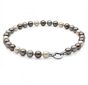 Naszyjnik kremowy srebrny złoty perła 12 mm
