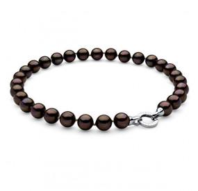 Naszyjnik brązowy-ciemny perła 12 mm