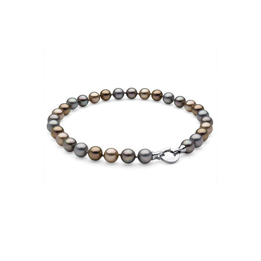 Naszyjnik srebrny złoty perła 12 mm