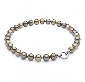 Naszyjnik złoty perła 12 mm