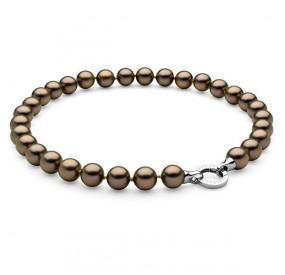 Naszyjnik złoty-antyczny perła 12 mm