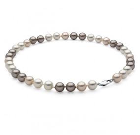 Naszyjnik kremowy srebrny złoty perła 10 mm