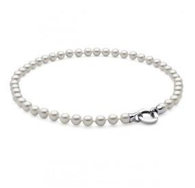 Naszyjnik biały perła 8 mm