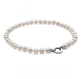 Naszyjnik biały perła 10 x 11 mm