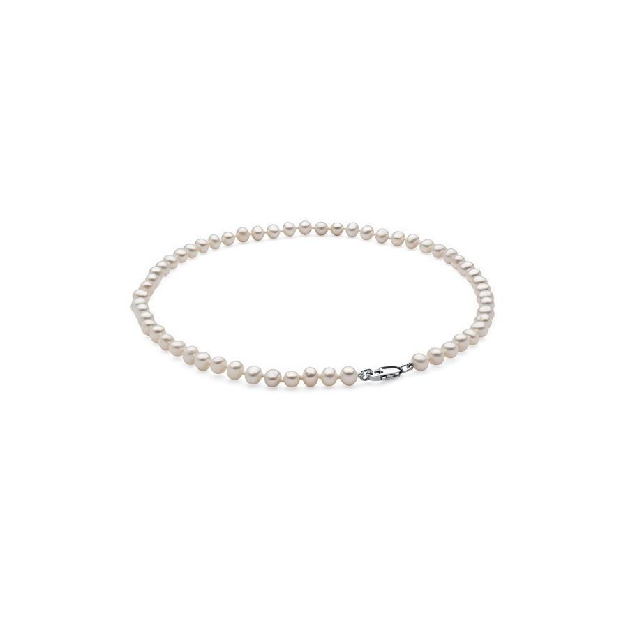 Naszyjnik biały perła 6 x 7 mm