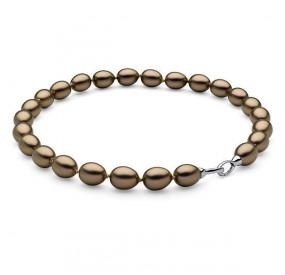 Naszyjnik złoty-antyczny perła 12 x 15 mm