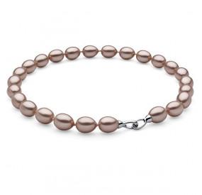 Naszyjnik różowy-pudrowy perła 12 x 15 mm