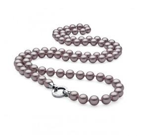 Naszyjnik fioletowy-jasny perła 10 mm
