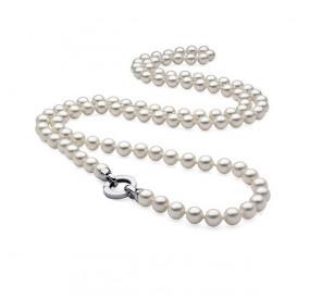 Naszyjnik biały perła 10 mm