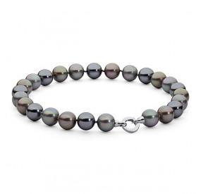 Naszyjnik grafitowy srebrny perła 16 mm
