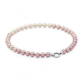Naszyjnik różowy-pudrowy perła 10 mm