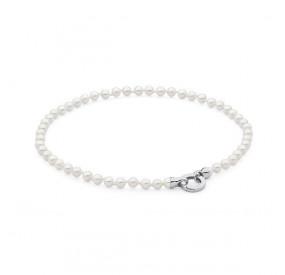 Naszyjnik biały perła 6 mm
