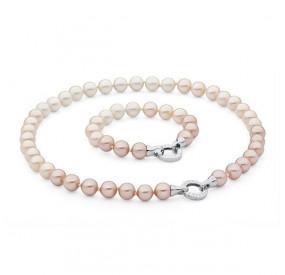 Komplet kremowy-odcienie perła 10 mm