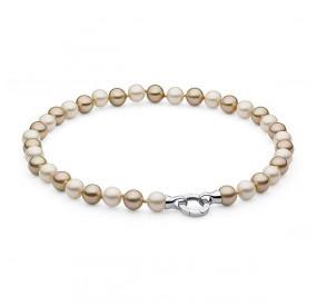 Naszyjnik kremowy złoty perła 10 mm