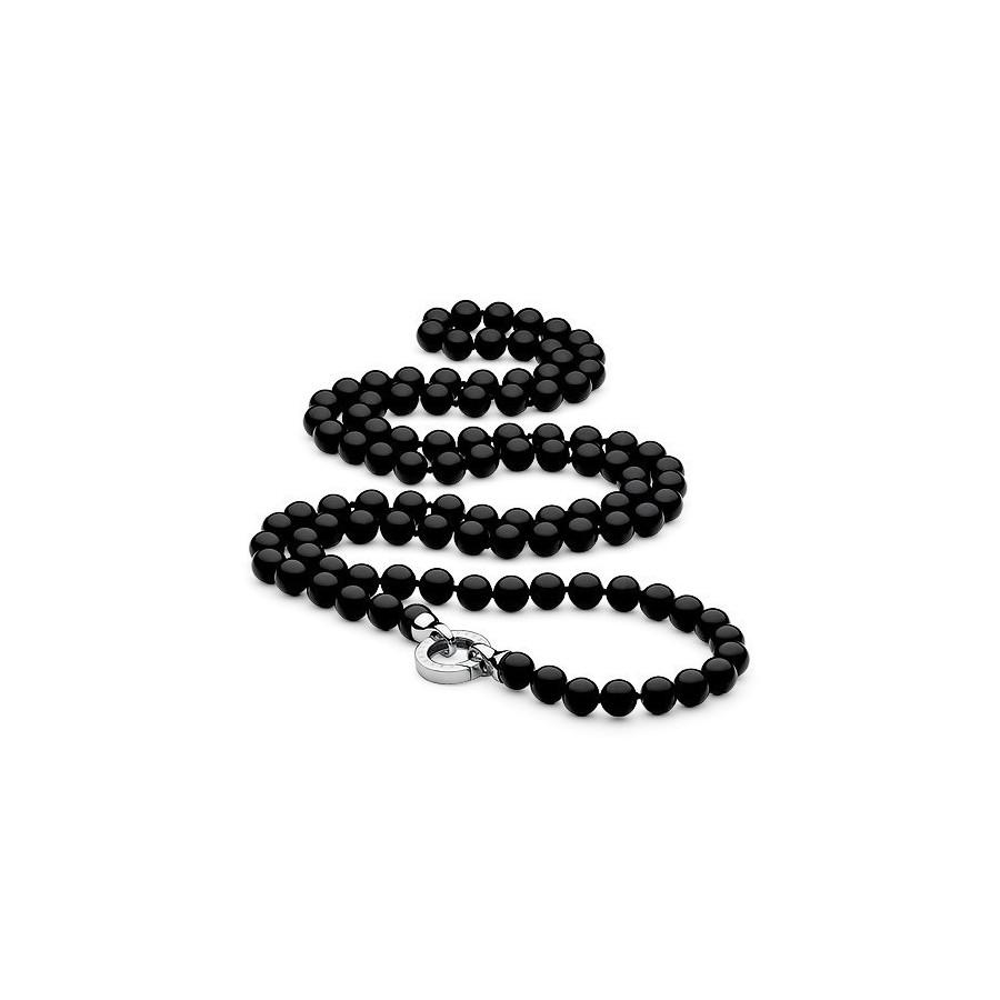 Naszyjnik czarny onyks 8 mm