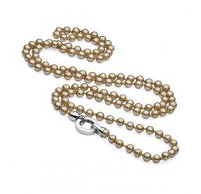 Naszyjnik złoty perła 6 mm