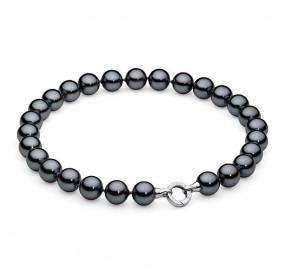 Naszyjnik grafitowy-ciemny perła 14 mm