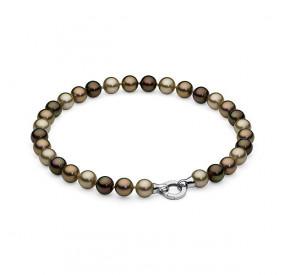 Naszyjnik brązowy złoty perła 12 mm